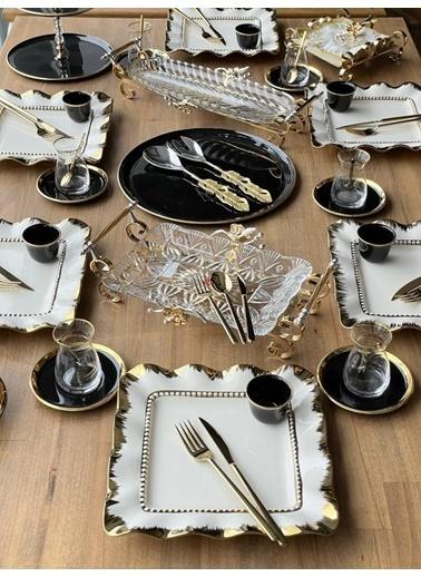 ROSSEV Kahvaltı Takımı Henna Black 78 Parça 6 Kişilik Renkli